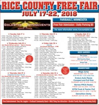 Rice County Free Fair Calendar