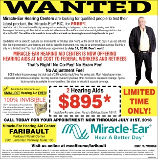 Miracle-Ear RIC for FREE