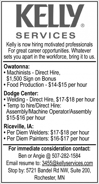 Professionals for career oportunities, Kelly Services