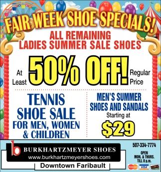 Fair week shoe specials!