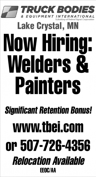 Now hiring!, Truck Bodies & Equipment International
