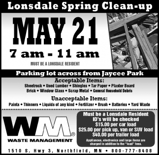 Lonsdale Spring Clean-up