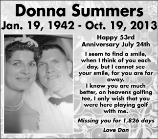 Happy 53rd Anniversary July 24th, Donna Summers, Northfield, MN