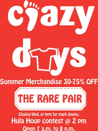 Summer merchandise 30-75% off