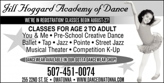 Classes for age 2 to adult
