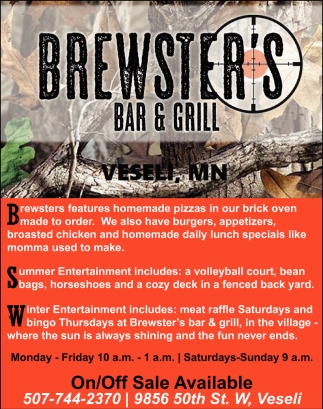 Summer Entertaiment, Brewsters Bar & Grill, Veseli, MN