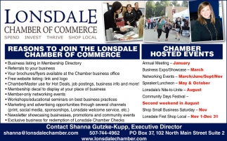 Chamber Hosted Events, Lonsdale Chamber of Commerce, Lonsdale, MN