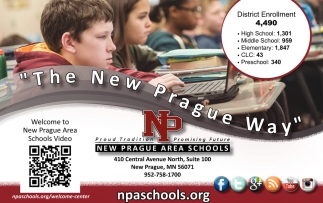 The New Prague Way, New Prague Area Schools, New Prague, MN