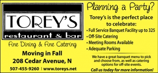 Fine Dining & Fine Catering
