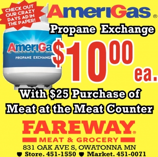 Propane Exchange $10