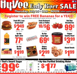 Early Riser Sale