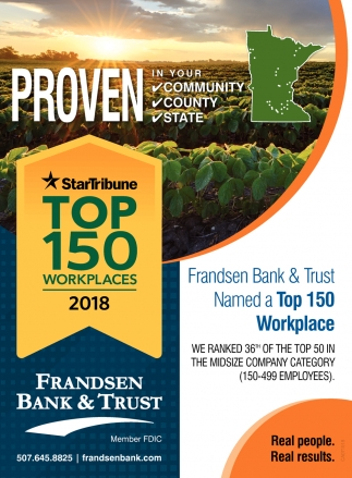 Proven in your community, county, state