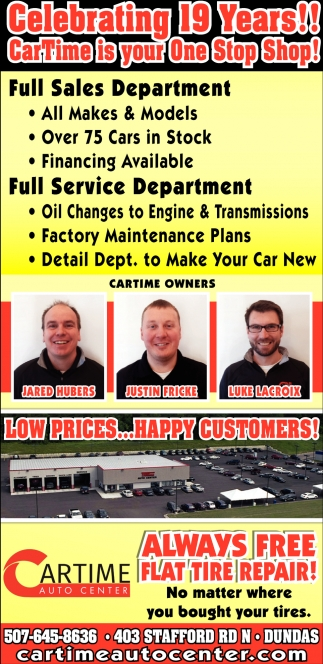 Full sales department - Full service department