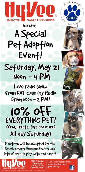 A Special Pet Adoption Event