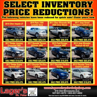 Select inventory price reductions!