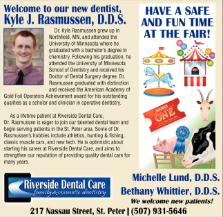 Welcome to our new dentist Kyle J. Rasmussen