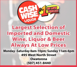Alway at low prices, Cash Wise - Owatonna, Owatonna, MN