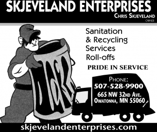 Sanitation & Recycling Services Roll-offs, Skjeveland Enterprises, Owatonna, MN