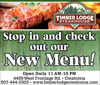 Stop in and check out our new menu!