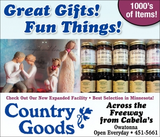 Great Gifts! Fun Things!, Country Goods , Owatonna, MN