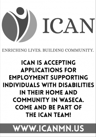 Enriching Lives. Building Community, ICAN , Waseca, MN