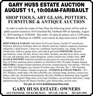 Gary Huss Estate Auction