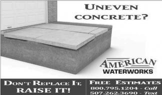 Uneven concrete!
