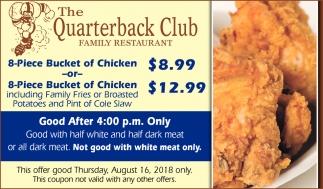 8-Piece Bucket of Chicken $12.99