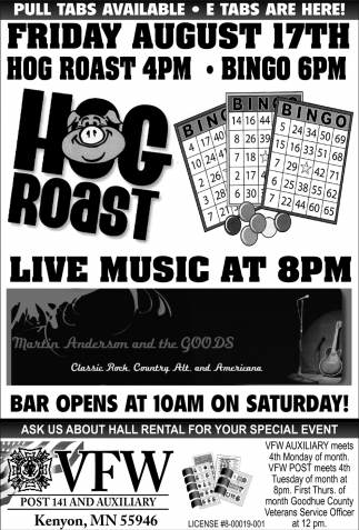 Hog Roast August 17th