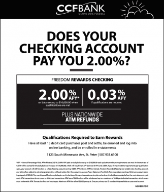 Does Your Cheking Account Pay You 2.00%