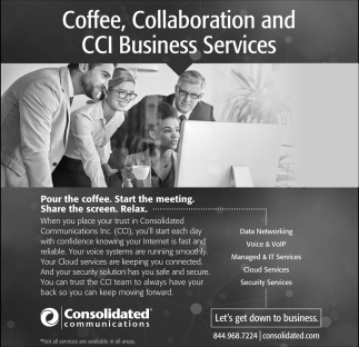 Coffee, Collaboration and CCI Business Services, Consolidated Communications, MN
