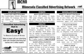 Minnesota Clified Advertising Work Mcan Mn