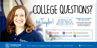 College Questions? Ask Taylor!