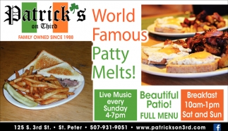 World Famous Patty Melts!