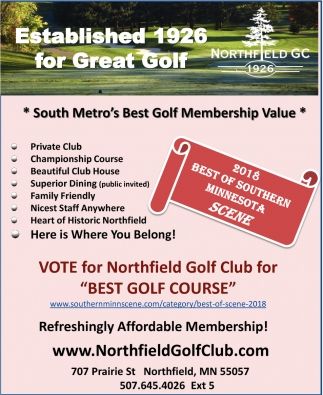 Vote for Northfield Golf Club for Best Golf Course