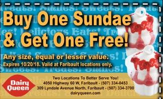 Buy One Sundae & Get One Free