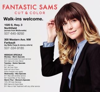 Walk Ins Welcome Fantastic Sams Cut Color Northfield Faribault