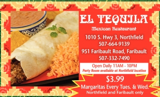 $3.99 Margaritas Every Tues. & Wed.