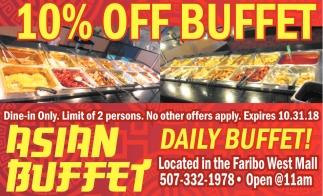 10% Off Buffet