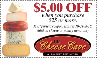 $5.00 off when you purchase $25 or more