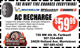 Ac Recharge $59.99