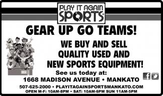 Gear Up Go Teams!!