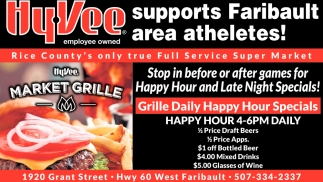 Hy-Vee supports Faribault area atheletes
