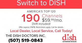 190 Channels $59.99/mo.