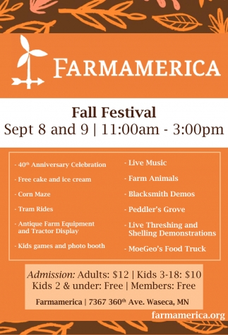 Fall Festival Sep. 8 and 9