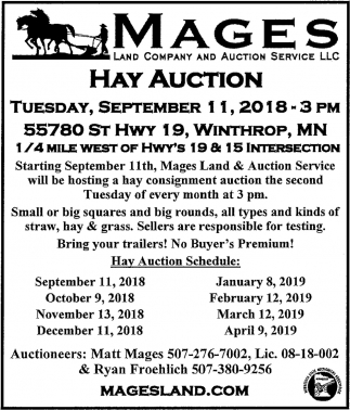 Hay Auction September 11