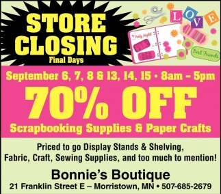 70 Off Srapbooking Supplies Paper Crafts Bonnies Boutique