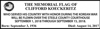 Memorial Flag of Clifford Koeckeritz