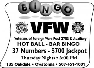 37 Numbers - $700 Jackpot