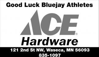 Good Luck Bluejay Athletes